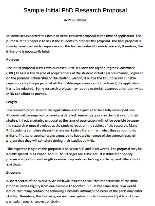 14+ Research Proposal Examples  Samples - PDF, DOC, Pages