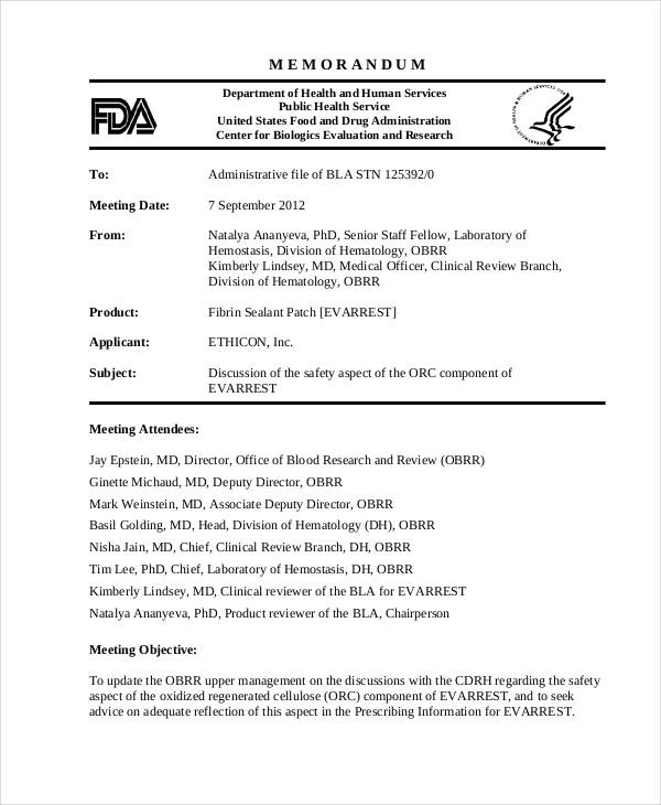 memorandum letter sample meeting - Trisamoorddiner