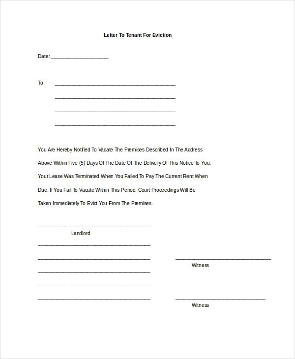 19+ Notice Letter Examples  Samples