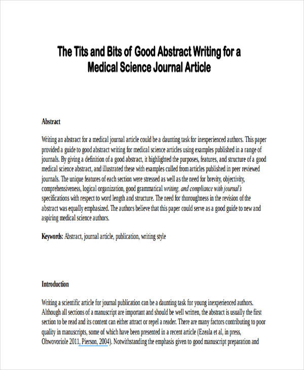 Writing An Abstract For A Scientific Report - How to Write a