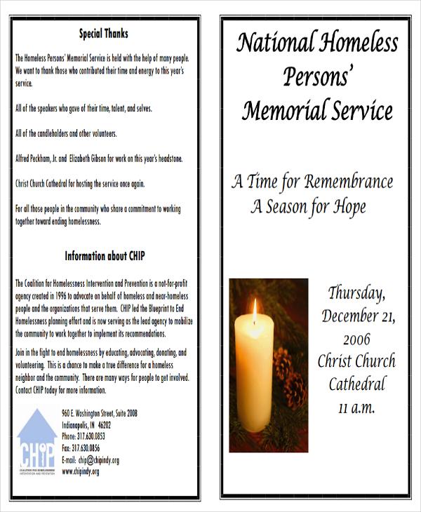 4+ Memorial Program Examples  Samples - memorial program