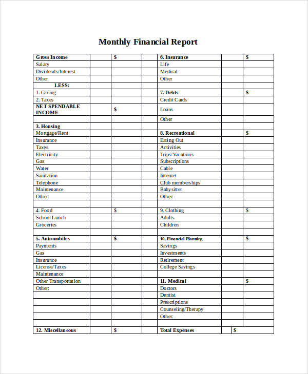 12+ Financial Report Examples, Samples