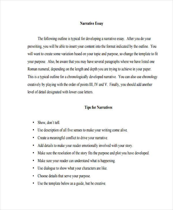 how to write a narrative essay examples