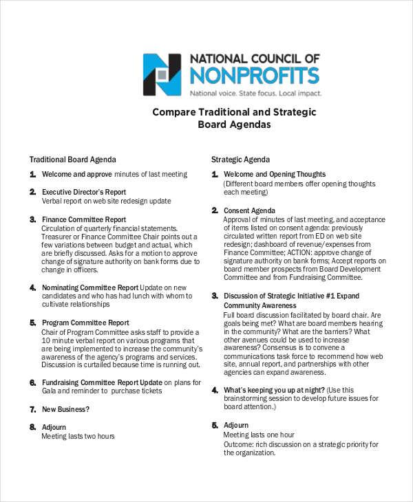6+ Examples of Nonprofit Agendas