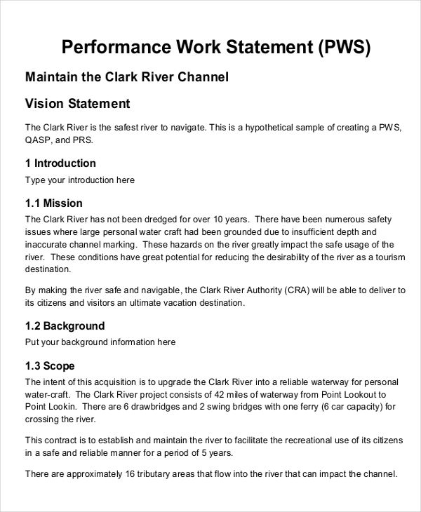 10+ Work Statement Examples - Word, PDF Examples