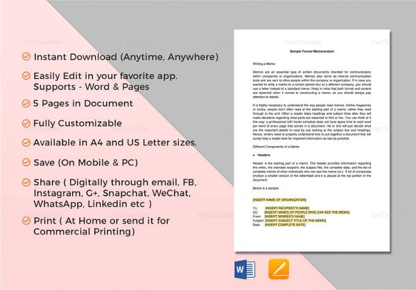 8+ Student Memo Examples  Samples - PDF, Word
