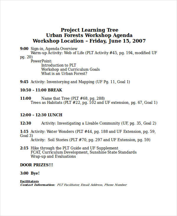 4+ Learning Agenda Examples, Samples