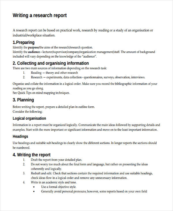 Sample Research Project Reports - sample project report