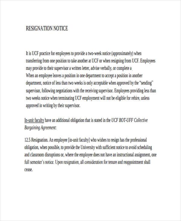 What To Avoid Writing Resignation Letter Resignation Letter