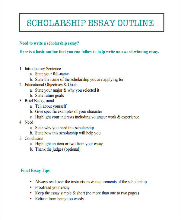 26+ Examples of Essay Outlines - essay outline