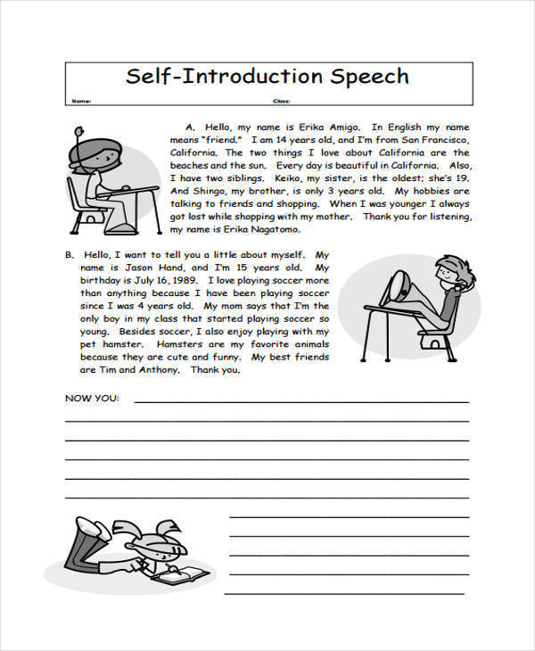 5+ Introduction Speech Examples  Samples - PDF - Introduction Speech Example