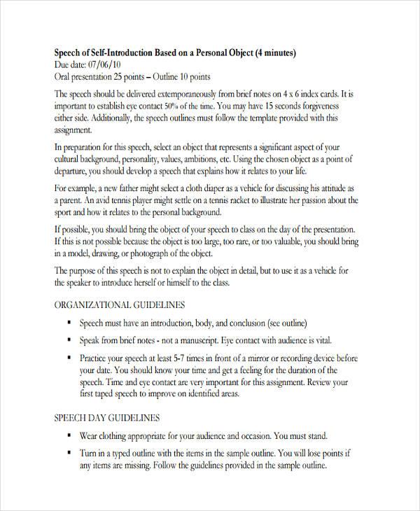 23+ Speech Examples - PDF