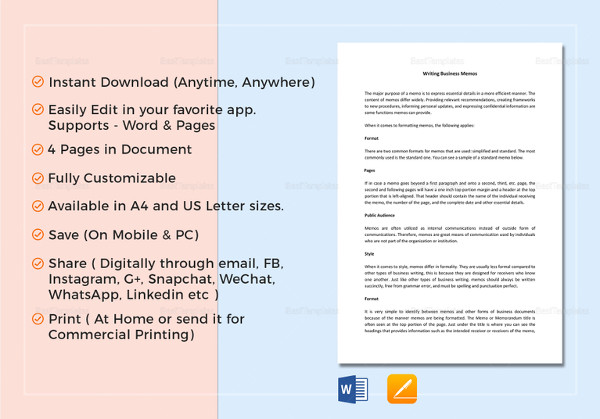 17+ Business Memo Examples  Samples - PDF, DOC - company memo template