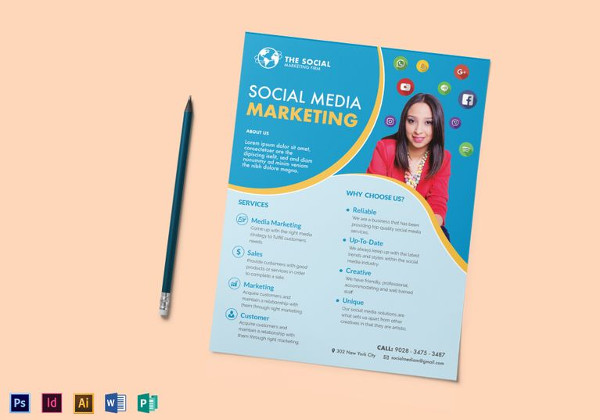 marketing flyer - Romeolandinez - marketing brochure