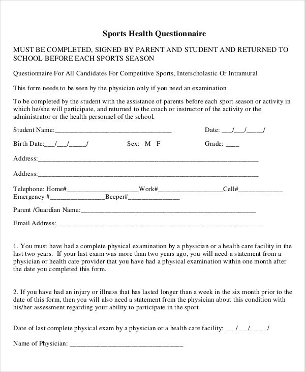 Example of questionnaire on how they make an enrollment system