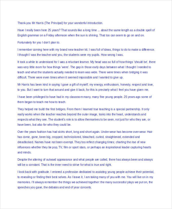 Retirement Speech Examples help with writing a retirement speech - retirement speech example