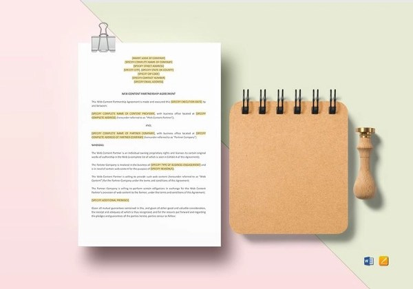 49+ Examples of Partnership Agreements - sample partnership agreements