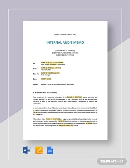 10+ Audit Memo Examples - Word, Google Docs Examples