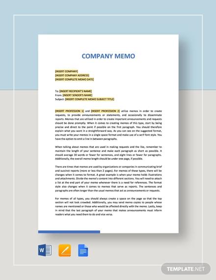 17+ Company Memo Examples - Word, Google Docs Examples