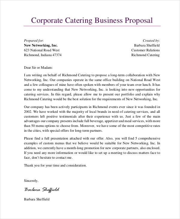 14+ Business Proposal Examples  Samples - PDF, Word, Pages