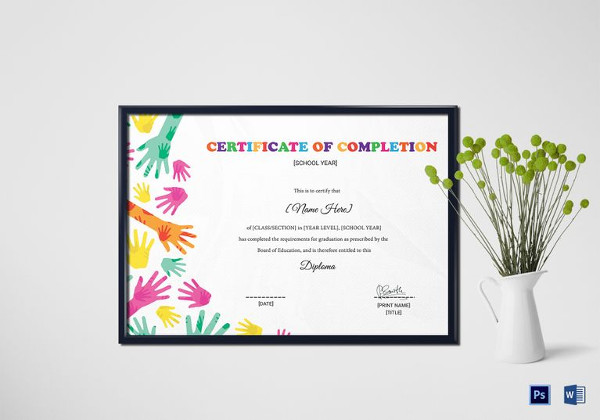 26+ Completion Certificate Examples - PSD, PDF, Word - certificate of completion sample