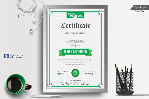 8+ Certificate of Appreciation Examples  Samples - certificate of appreciation examples