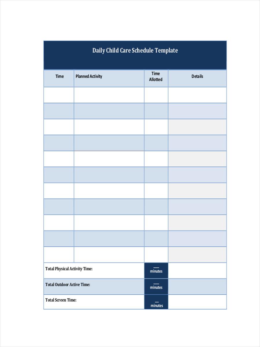 daily schedule pdf