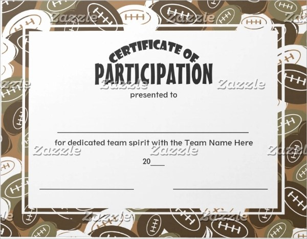 9+ Participation Certificates Examples  Samples - design of certificate of participation