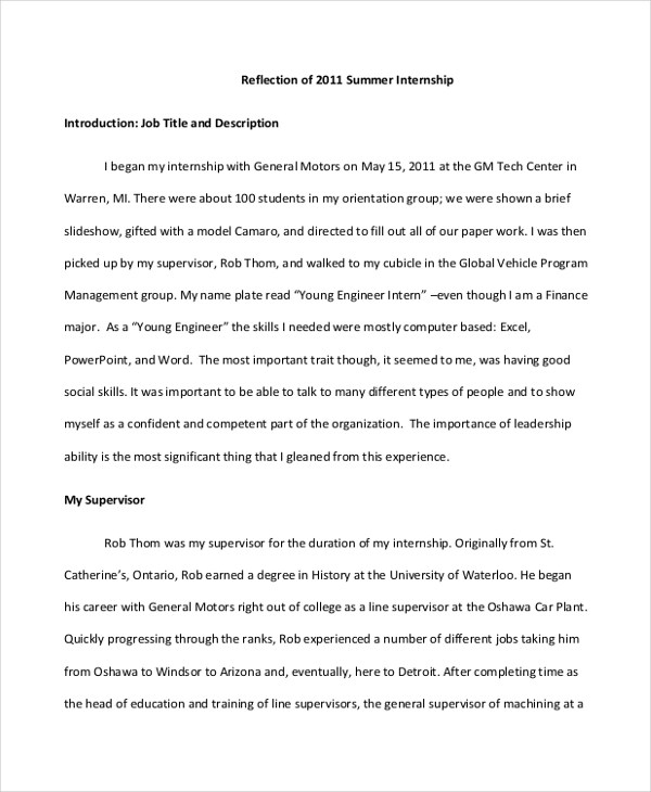 reflection paper example essays - Towerssconstruction