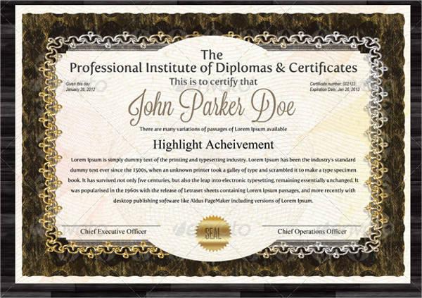 16+ Modern Certificate Examples  Samples