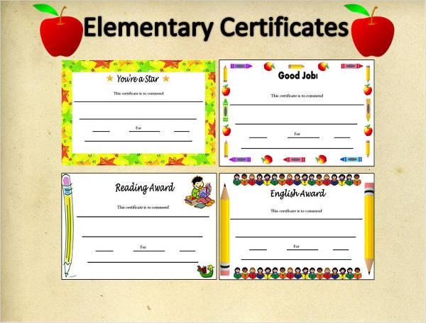 certificates for elementary students - Pinarkubkireklamowe