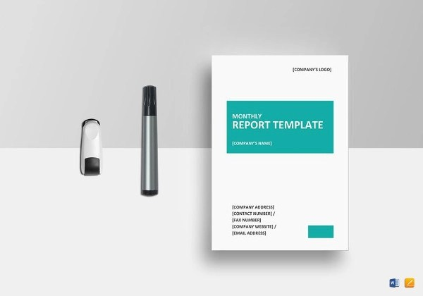 14+ Monthly Report Examples  Samples - PDF, Word - monthly report template word