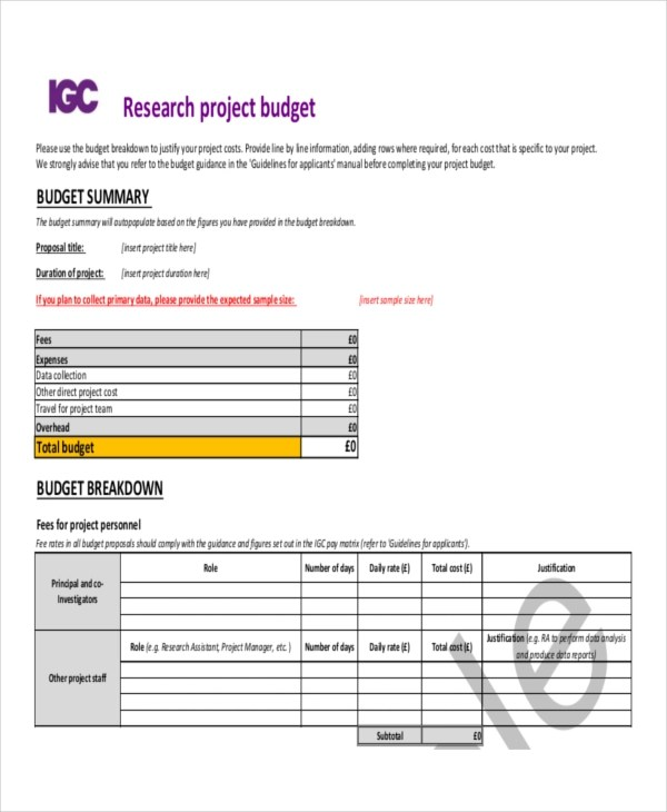 6+ Budget Proposal Examples, Samples