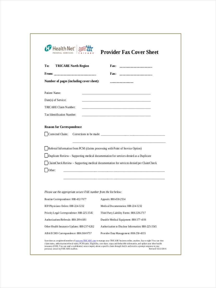 sample of a fax cover sheet