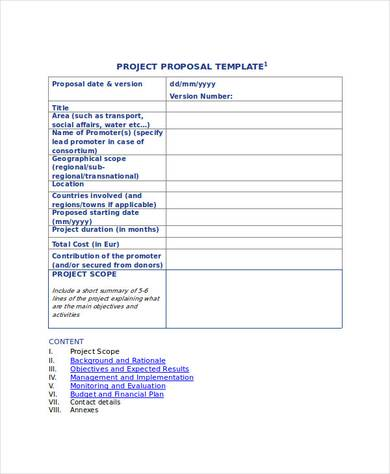 45+ Project Proposal Examples - PDF, Word, Pages - project proposal template sample