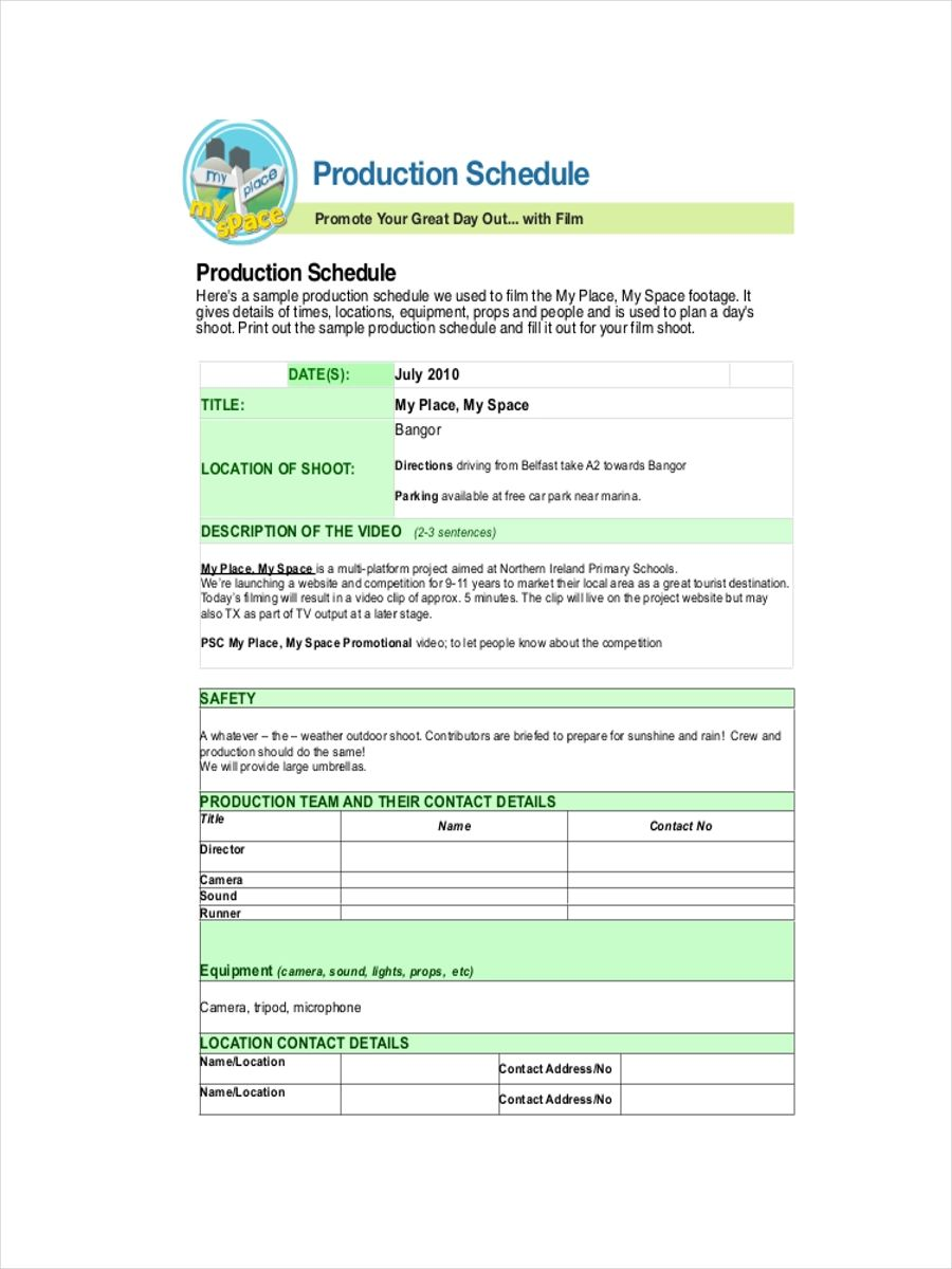 excel schedule template download