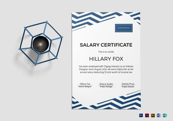 11+ Salary Certificate Examples  Samples - PDF, Word, Pages