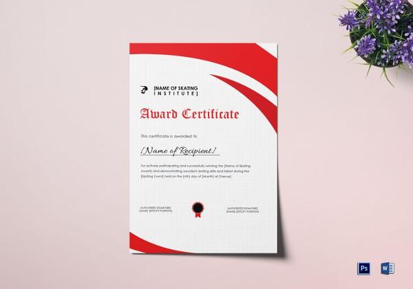 18+ Award Certificates Examples  Samples