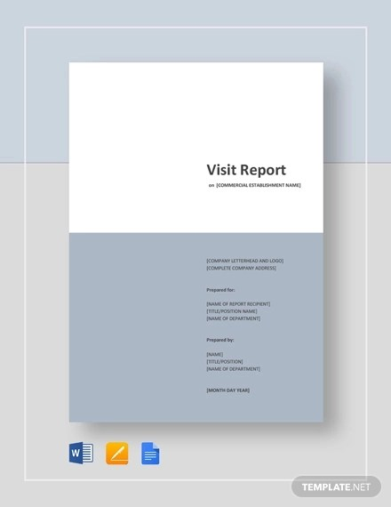 14+ Visit Report Examples  Samples - PDF, DOC, Apple Pages, Google