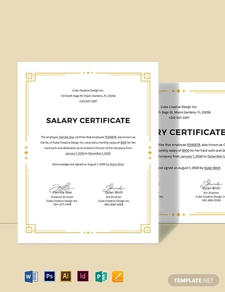 16+ Salary Certificate Examples  Samples - PDF, Word Examples