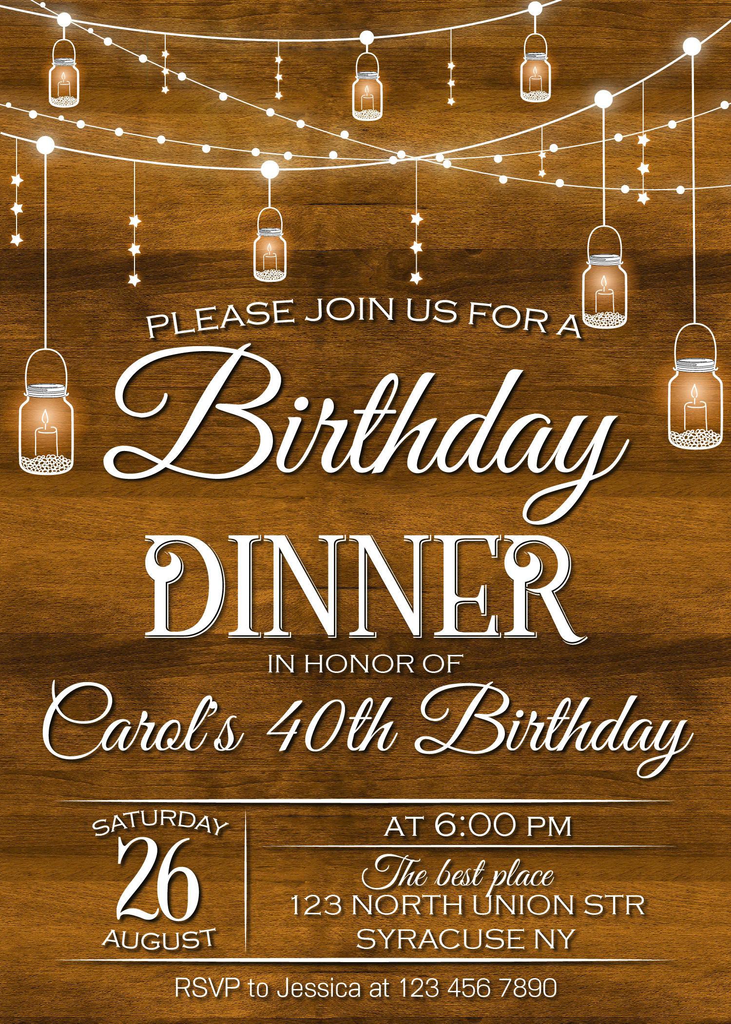 child birthday party invitation