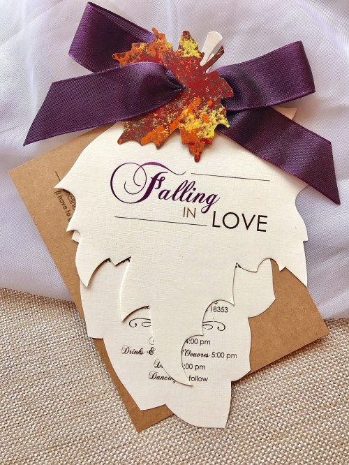 Medium Of Fall Wedding Invitations