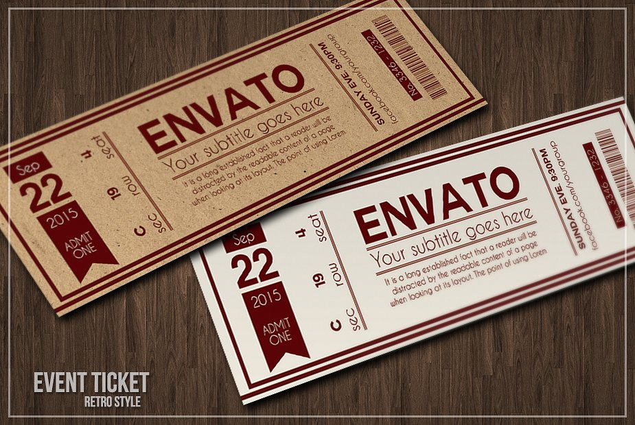 9+ Event Ticket Designs  Examples - PSD, AI, Vector EPS