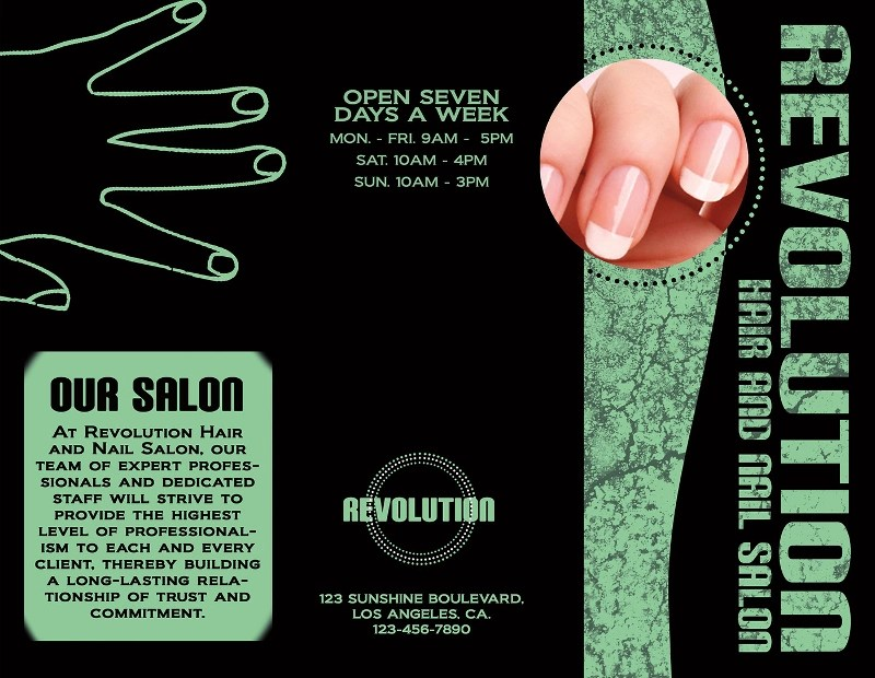 12+ Nail Salon Brochure Designs and Examples \u2013 PSD, AI Examples