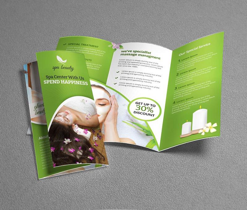 15+ Spa Brochure Designs  Examples - PSD, AI, EPS Vector - spa brochure