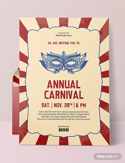 16+ Carnival Party Invitation Designs and Examples \u2013 PSD, AI Examples
