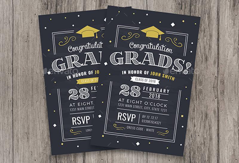 14+ Chalkboard Invitation Designs  Examples - PSD, AI