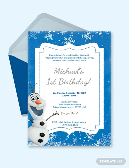 16+ Frozen Birthday Invitation Designs and Examples \u2013 PSD, AI Examples