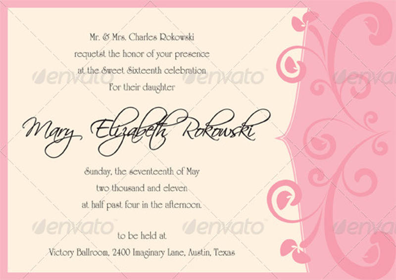 14+ Sweet 16 Invitation Designs  Examples - PSD, AI, EPS Vector