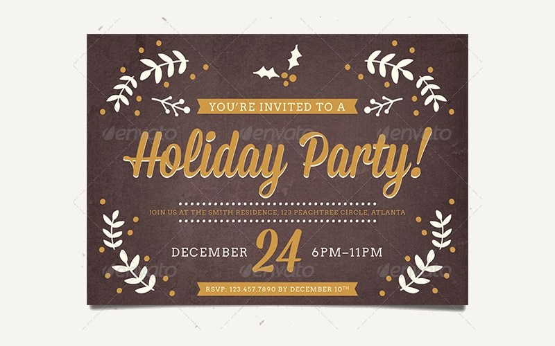 14+ Holiday Party Invitation Designs and Examples - PSD, AI - holiday party invitation